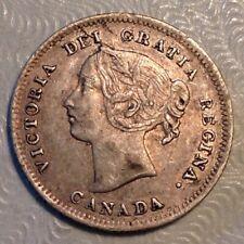 1899 Canada Victoria Five 5 Cents