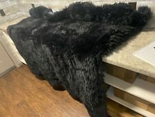 Black Bear Skin Faux Fur Pelt Hide Rug 5.5' x 6.5'