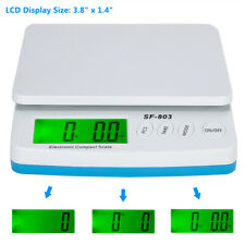 LCD Digital Kitchen Scale Food Postal Mailing 30KG-1G Slim Electronic Plastic