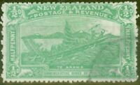 New Zealand 1906 1/2d Emerald Green SG370 Fine Used