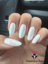 Ab Aurora Espejo Uñas Arte en Polvo Polvo uñas cromo Iridiscente tendencia Arco Iris