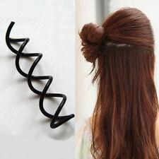 Black Hair Twist Spiral Clip  Pins Spin Bridal Barrette Accessories Screw Pin