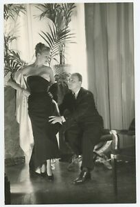 U256 Photographie originale vintage ancien Pierre Balmain Robe dress fashion