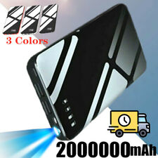 2000000mAh Portable Power Bank 2 USB LED External Battery Fast Charger Pack NEW