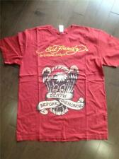 Ed Hardy Red Bling T-Shirt Size Xl Euc Eagle Death Before Dishonor Audigier
