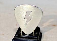 Electric lightening bolt sterling silver guitar pick