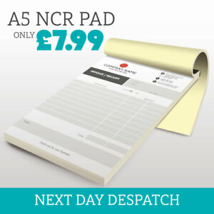 Personalised A5 Duplicate Invoice Book • Order Book • NCR Pad • Receipt Pad