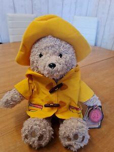 "Paddington Bear Rare Original Yellow Coat Plush Soft Bear With Hat 17"""