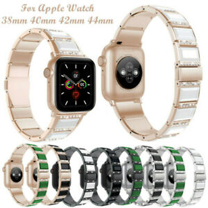 Cute Ceramic Link Stainless Steel Band Wrist Strap For iWatch Series 5 4 3 2 1