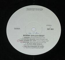 LP/BOBBY SOLO`S BEST/207001/UNVERKÄUFLICHE MUSTERPLATTE PROMO
