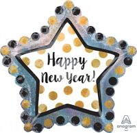 RING IN THE NEW YEAR HAPPY NEW YEAR  FOIL BALLOON PARTY DECORATION YEARS EVE