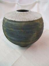 Vintage Raku Art Pottery Vase Signed