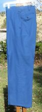 Vintage Button Fly Royal Blue Flannel Trousers 32x30 - Possibly Uniform Pants