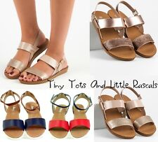 Older Girls Women's Summer Ankle Strappy Open Toe Sandals Beach Shoes 3 - 7