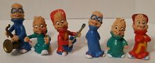 Alvin & the Chipmunks Vintage PVC Figure Lot Of 6 1990-1991