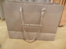 "Club Monaco Shopping Gift Bag Paper Extra Large Size16""X12""X6&# 034; Beige Taupe"