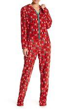 NWT Hello Kitty Red Jolly Merry Micro Polar Fleece Jumper Jumpsuit Union Suit XL