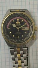 Vintage Japan watch Orient World Time automatic 5 BAR 24 hour dial  70-80'S