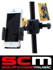 HERCULES DG200B SMARTPHONE HOLDER CLAMP MIC MICROPHONE STAND IPHONE / GALAXY NEW