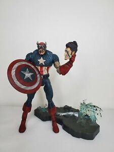 "Marvel Diamond Select Legends 8"" Zombie Colonel Captain America Figure W/ Base"