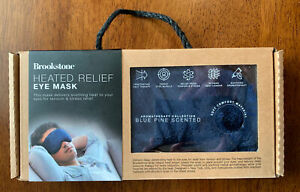Brookstone Heated Relief Eye Mask BRAND NEW