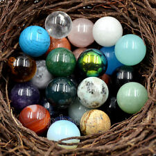 Natural Gemstones 20mm Round Ball Crystal Healing Sphere Rock Stones Decor