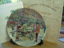 DAVENPORT CHINA PLATE THE BOOK SELLER CRIES OF LONDON BOXED CERTIFICATE 38
