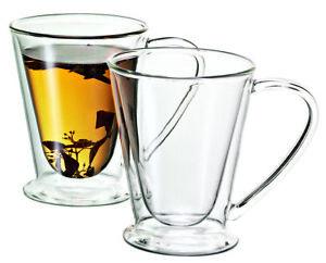 New AVANTI Hero Twin Wall Mug 250ml Set of 2 Thermal Espresso Coffee Tea Cup