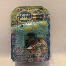Amazing Bubbles Exstream Bubble Gun Green Kids Outdoor Toy New