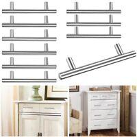 "10pcs Kitchen Cabinet Door Knob T Bar 6"" Stainless Steel Cupboard Drawer Handle"