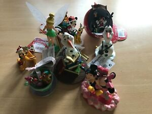 8 Disney Ornamente  Figuren Disneyland Olaf, Tinkerbell, Micky, Minnie usw.