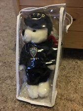 NYPD White Teddy Bear Soft Plush Toy In Police Uniform - New With Tag