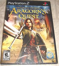 Lord of the Rings Aragorn's Quest for Playstation 2 Brand New! Factory Sealed!