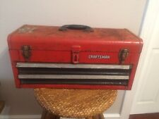Vintage Craftsman 2-drawer tool box chest Very Old Rusty