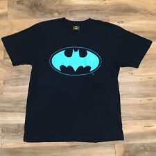 ATMOS x KINETICS x BATMAN t-shirt Rare Japan DC COMICS Teal Yellow Black