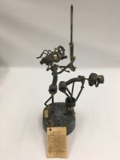 Metal Sculpture Of Doctor/Patient By Bill Westfall 1978 Nutz & Boltz Sculptures