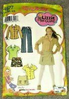 Simplicity Pattern 4977 Lizzie McGuire Girls' & Plus Pants Skort Top Size 8-16