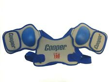 New Nos Cooper Sp100 Ice Hockey Shoulder Pads Blue/Grey - Size: Youth Large