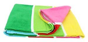 Bright Multi Colored Beach Towel