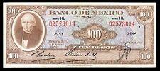 El Banco de Mexico 100 Pesos 20.08.1958 Serie HL. P-55g XF