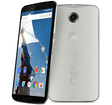 "New Unlocked Motorola Nexus 6 XT1103 32GB 5.96"" 13MP 3GB RAM Smartphone White"