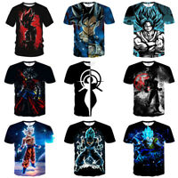 New Women Men Dragon Ball Z Vegeta Goku Super Saiyan Print Casual 3D T-Shirt Tee