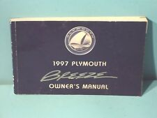 97 1997 Plymouth Breeze owners manual