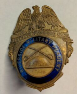 Vintage Riverside Military Academy Badge Pin made in England J.R. Gaunt New York