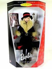 WINTER IN NEW YORK Barbie Doll 1998 NRFB CITY SEASONS Fur Trimmed Coat Hat ++