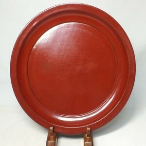 D1817: Very popular Japanese biggish plate of really old NEGORO lacquer ware
