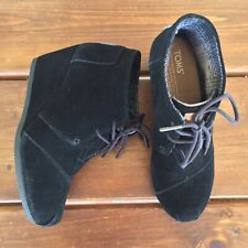 Toms Desert Wedge Ankle Boots Women's Size 6