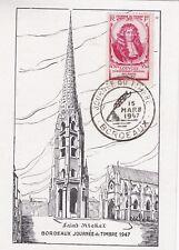 FRANCE 1947 FDC JOURNEE DU TIMBRE LOUVOIS BORDEAUX YT 779