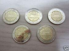 manueduc  Las 5 MONEDAS de 2 EUROS ALEMANIA 2007 TRATADO DE ROMA 5 Cecas NUEVAS