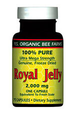 Y.S. Organic Bee Farms 100% Pure Freeze Dried Royal Jelly 2000mg 75 softgel caps
